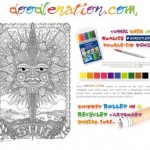 Competition: Win a giant A1 colouring in poster kit from doodlenation.com