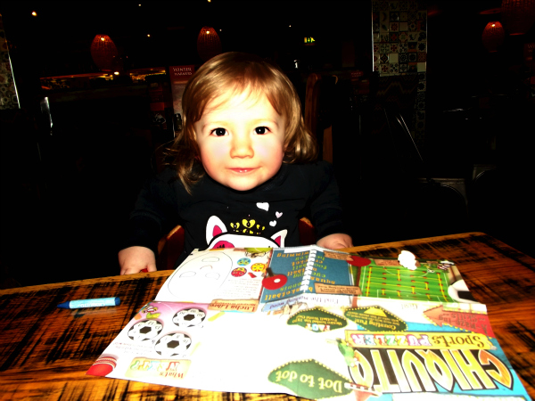 Amy at Chiquito's Saturday is caption day