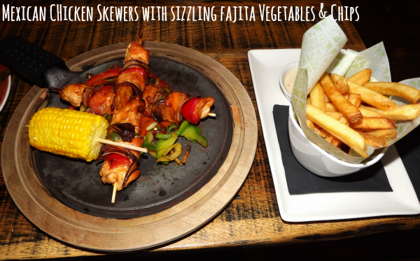chiquito cribbs causeway bristol restaurant review main meals mexican chicken skewers with sizzling fajita vegetables and chips