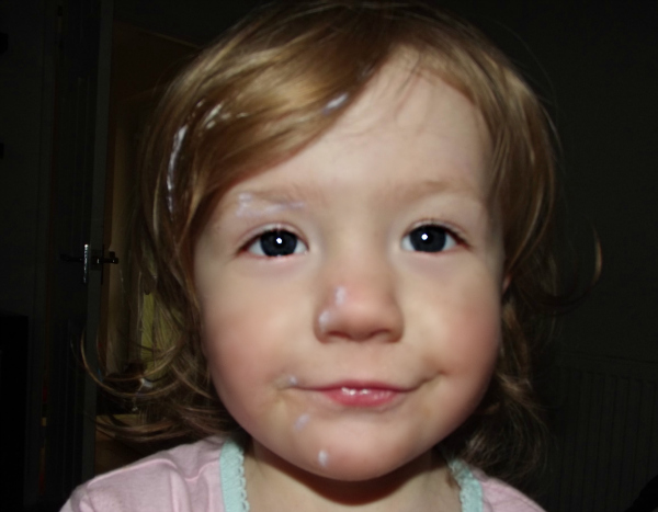 Amy has had fun with the Sudocrem again