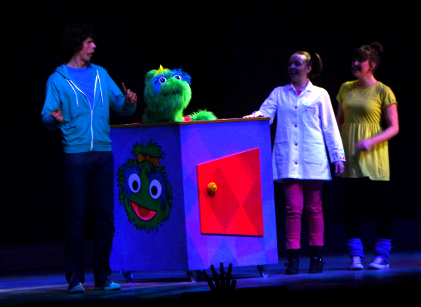 Andy, Little Monster, Nina and the Neurons, Katy Ashworth at Justin and Friends tour in Cardiff