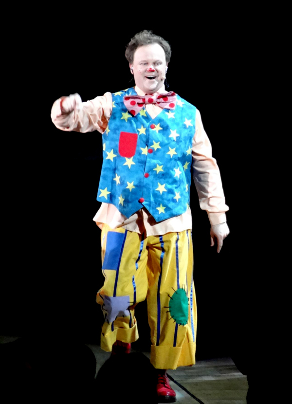 Justin Fletcher as Mr Tumble at Justin and Friends Show in Cardiff