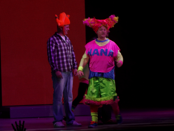 Justin Fletcher as Nana Justin and Friends tour in Cardiff