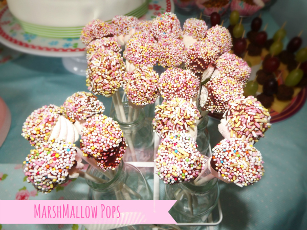 Marshmallow pops for candy bar or birthday party ideas