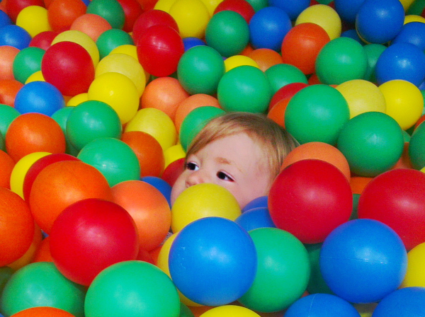 Silent Sunday Amy in the ball pool 19 May 2013