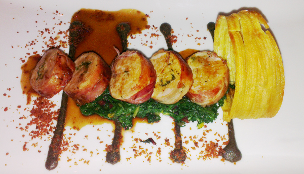 chicken and bacon roulade petrichor restaurant the cavendish hotel London