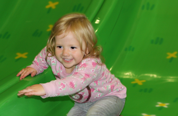 Amy enjoying soft play at Peppa Pig World Paulton Park