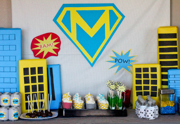 Superhero party ideas for kids parties