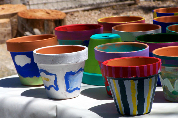 painted plant pots ideas for kids parties