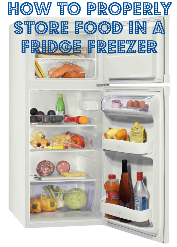 how to store food in a fridge freezer