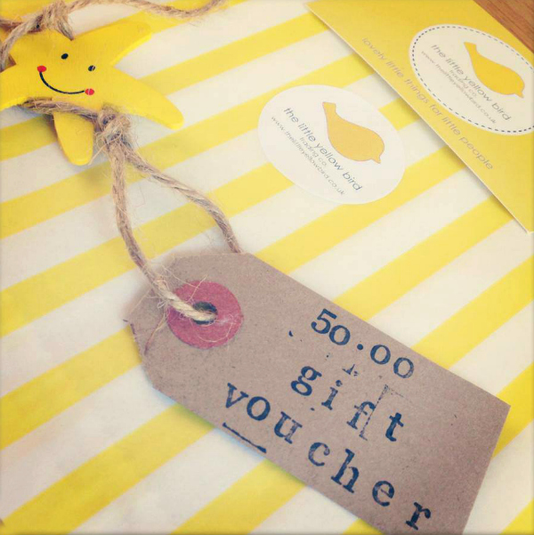 win a £50 gift voucher from the little yellow bird
