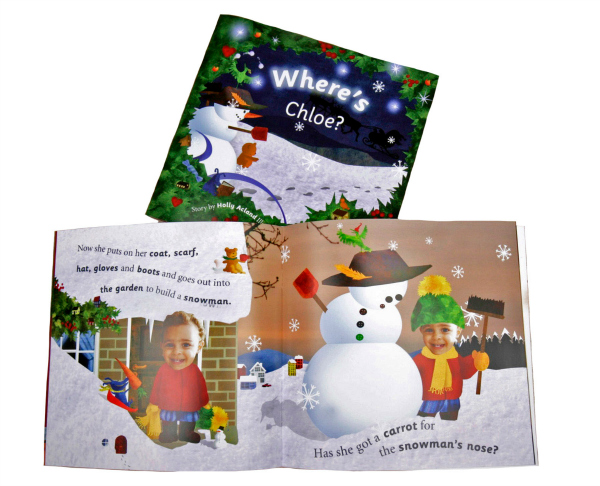 personalised story book christmas