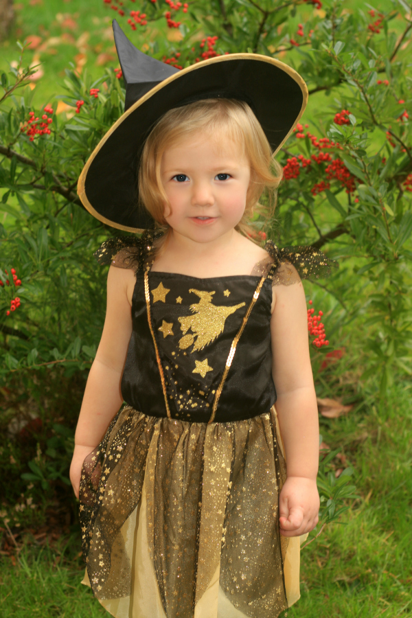 Amy as a witch ready for our Halloween party