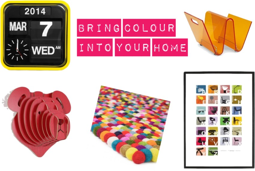 bring colour into your home