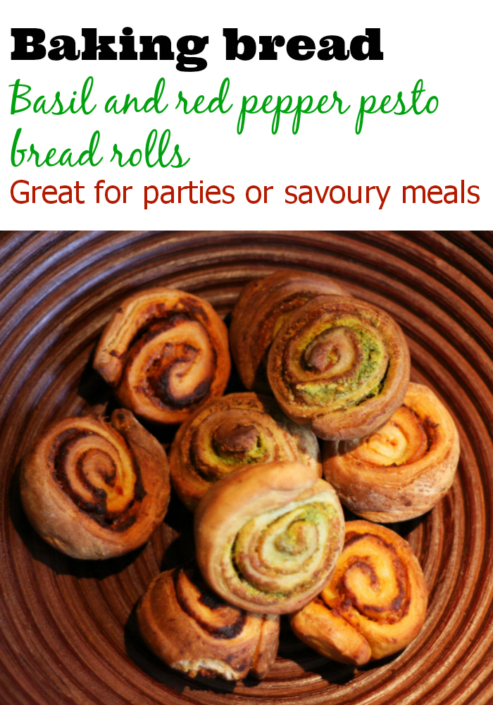 basil and red pepper pesto bread rolls pinterest