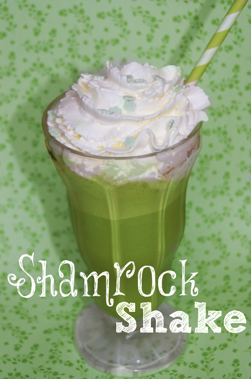 St Patricks Day Milkshake  Shamrock Milkshake green milkshake two