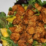 Chicken salad with mango and avocado