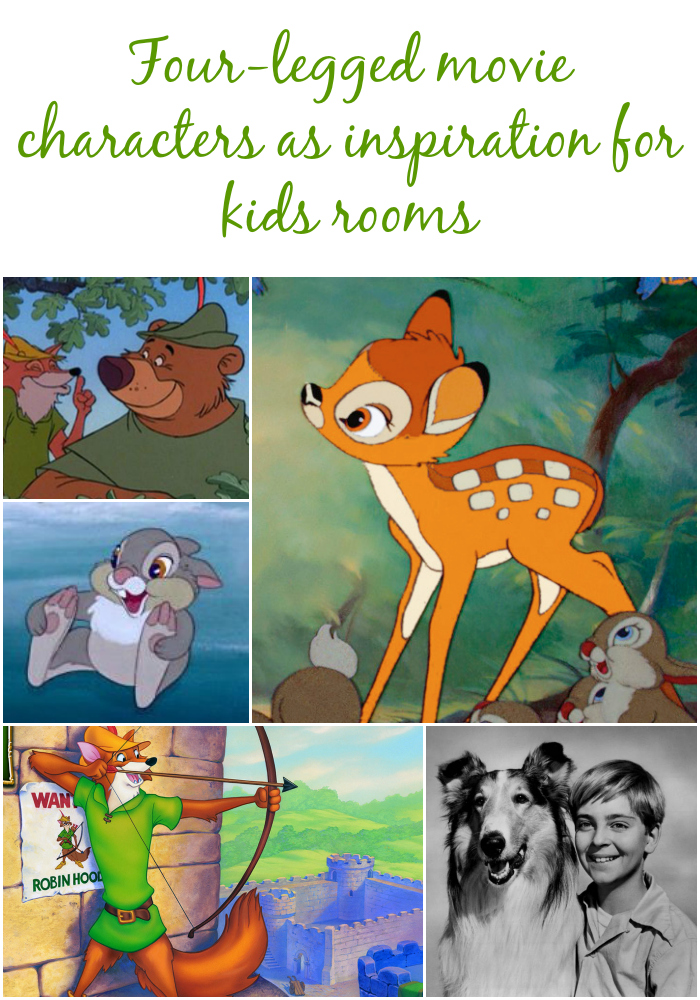 movie characters as inspiration for kids rooms