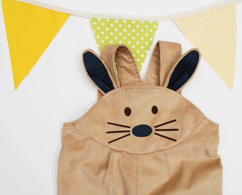 wild things easter bunny dungarees