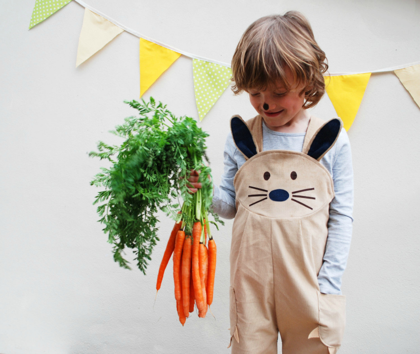wild things easter bunny rabbit dungaree overalls