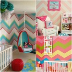 Nursery design trend: Chevron wall