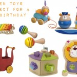 Wooden toys from baby to toddler