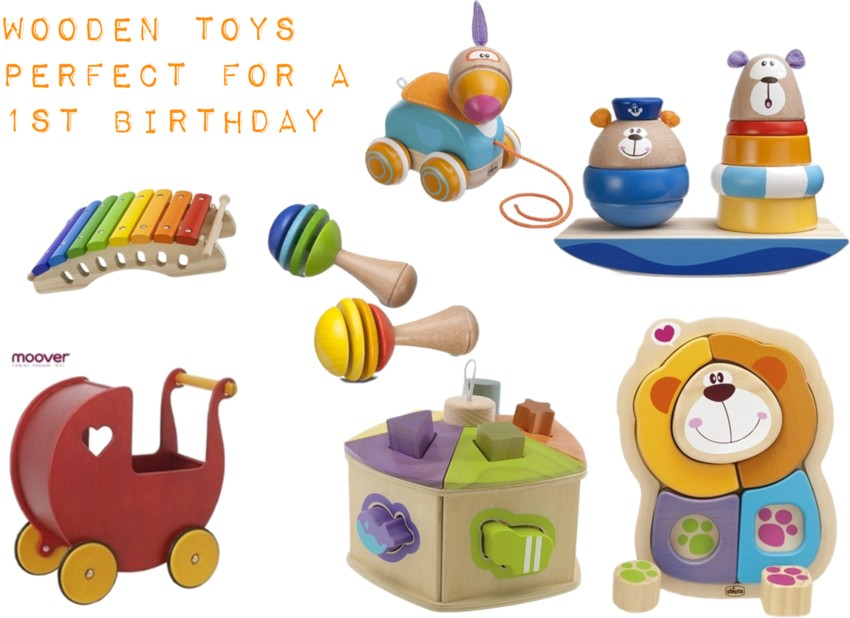 wooden toys perfect for a first birthday, ideas for first birthday, wooden toys, birthday presents for toddler