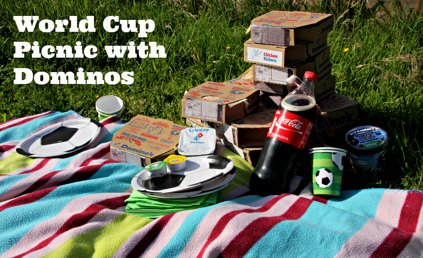 World cup picnic with Dominos