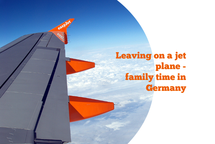 flying to Germany for family time