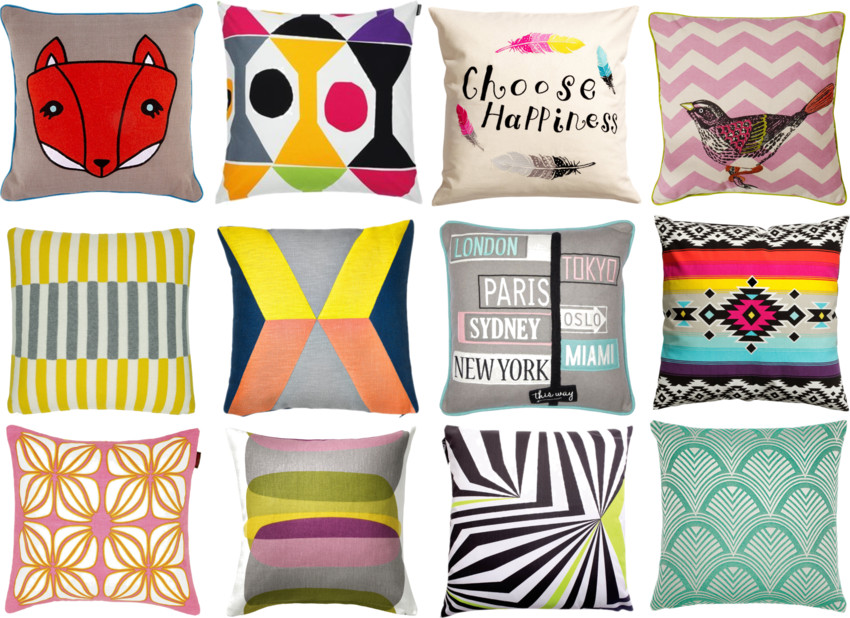 12 cushions for £30 or less, one cushion for each month, stylish cushions