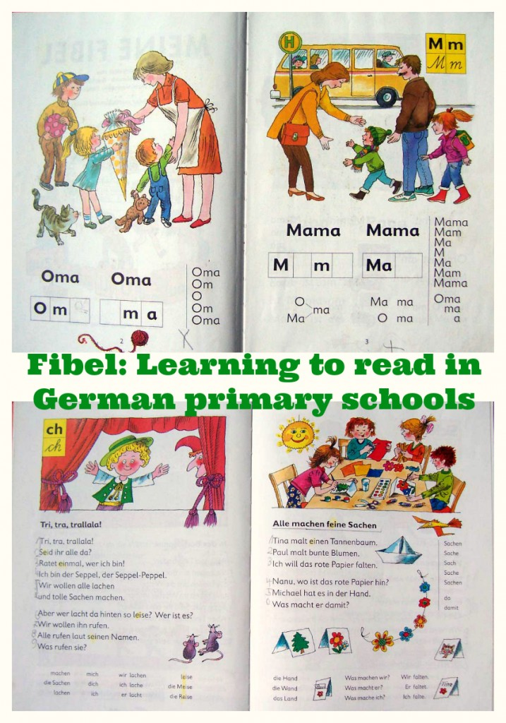 On your first day at school in Germany, you are given a copy of the Fibel. Learning to read in German primary schools