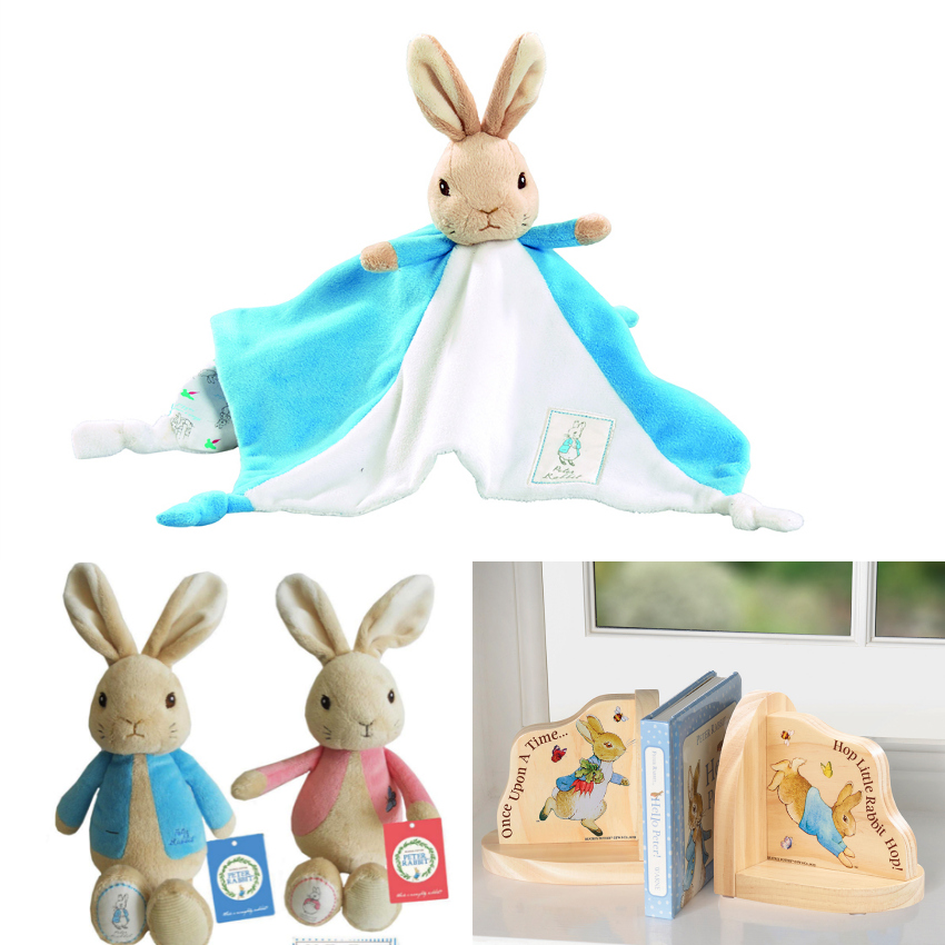 Peter Rabbit Nursery Bundle, peter rabbit or jamima cuddly toy, peter rabbit bookends, peter rabbit comforter