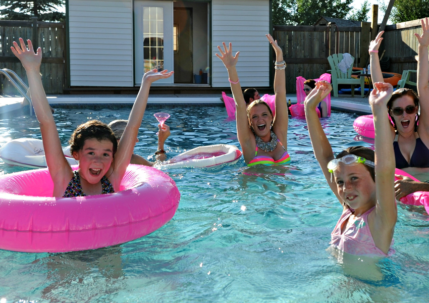 celebrate your kids' birthday with a pool party