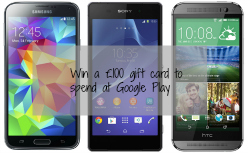 Win a £100 Google Play Gift Card with Three Mobile