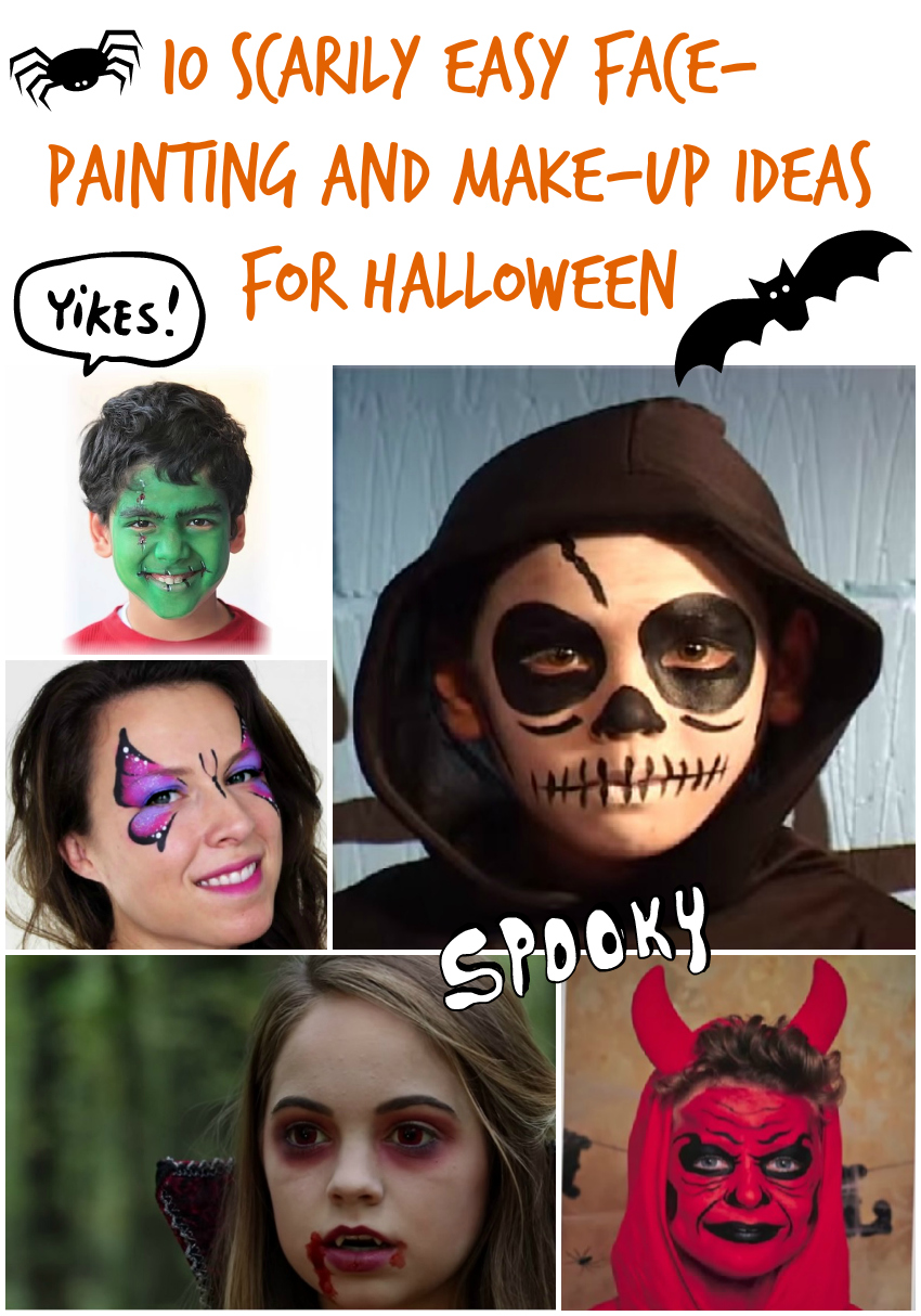 10 scarily easy face-painting and make-up ideas for halloween