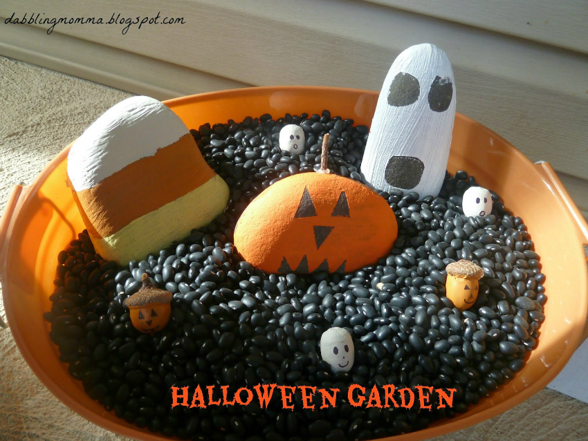 Halloween Rock Garden porch display