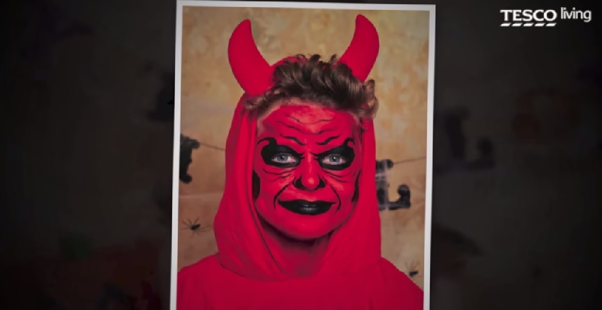 devil face-painting
