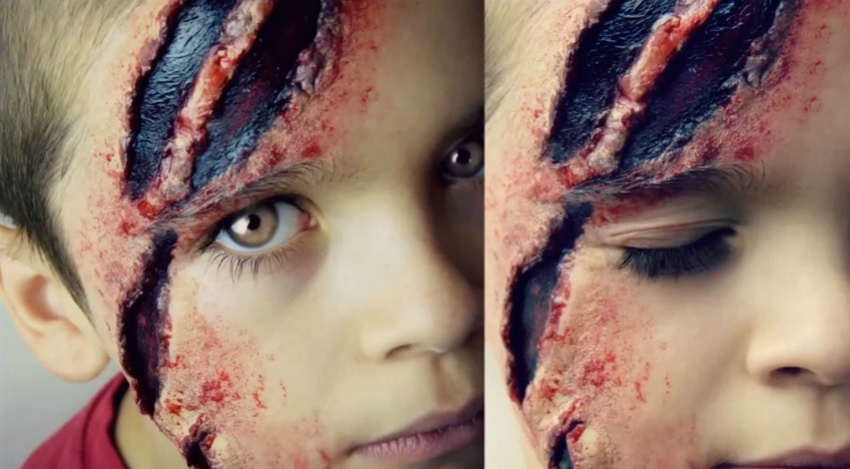 how to create fake scars with facepaint for halloween