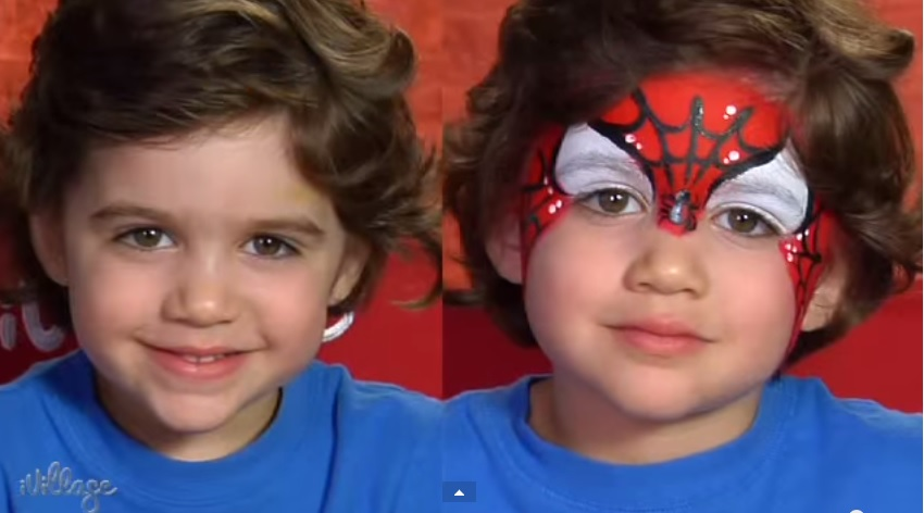 spiderman face-painting ideas for halloween