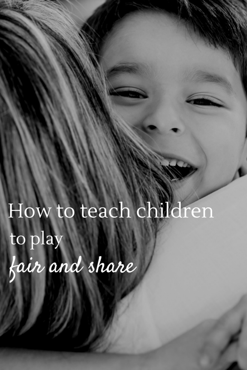 How to teach children how to play fair and share