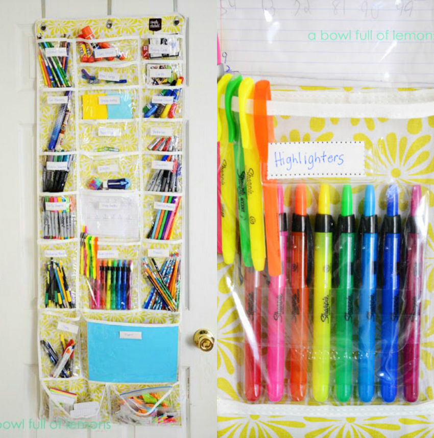 how to organise your office with over the door storage