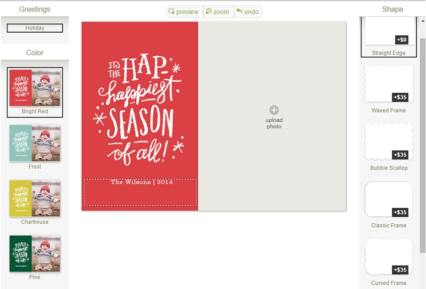 minted.com how to make your personalised christmas card
