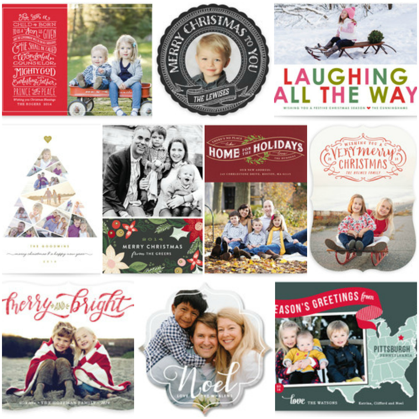 minted.com personalised photo christmas cards