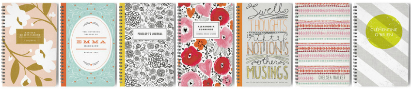 minted.com personalised stationery and gifts, personalised planners