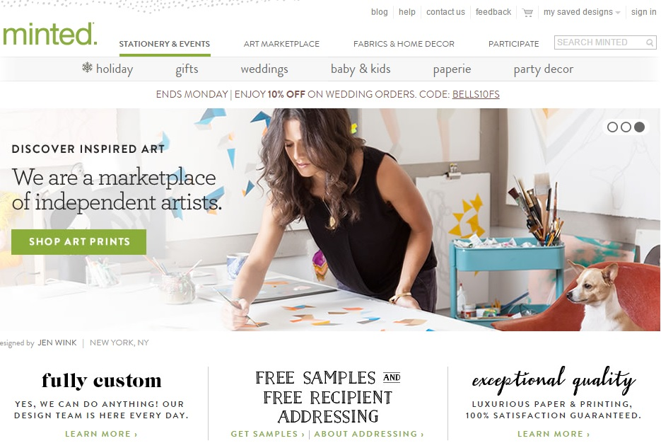 minted.com website
