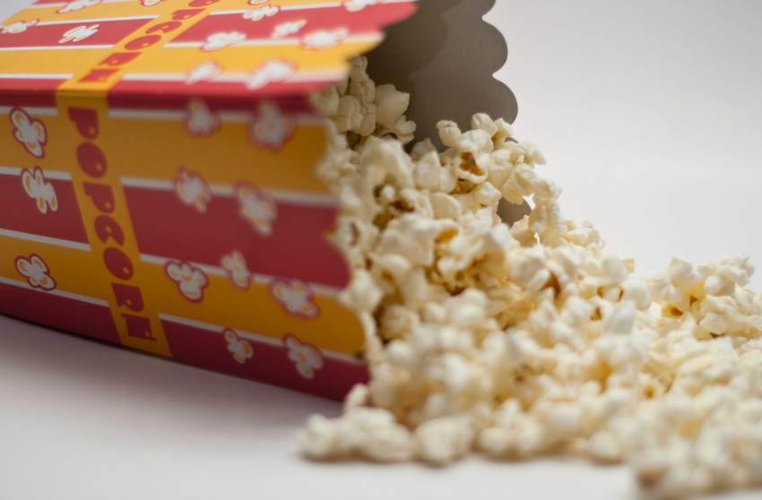 popcorn for a movie afternoon - rainy day activities