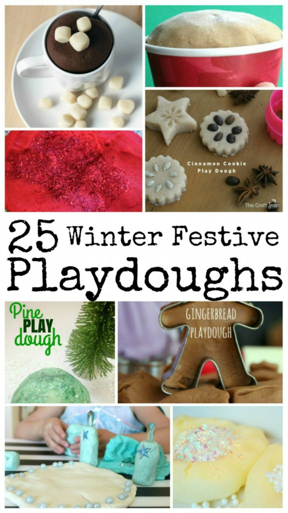 winter and festive play doh recipes, play doh recipes for winter