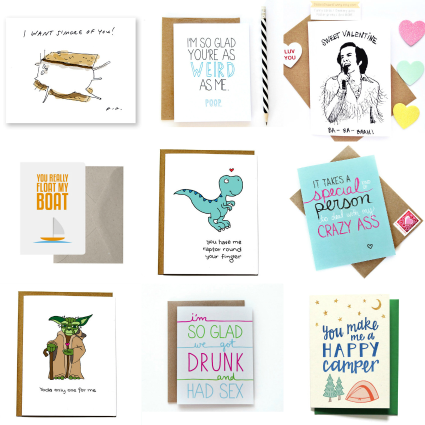 unique valentines day cards, quirky valentines day cards, funny cards for valentines day