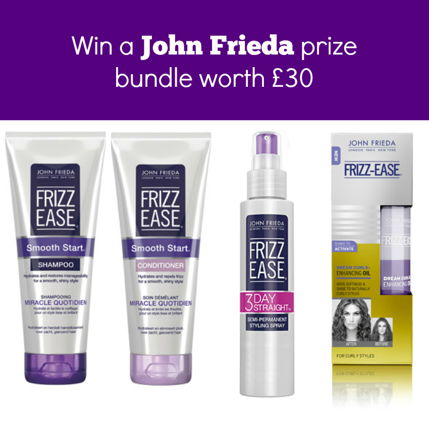 win a john frieda frizz ease prize bundle