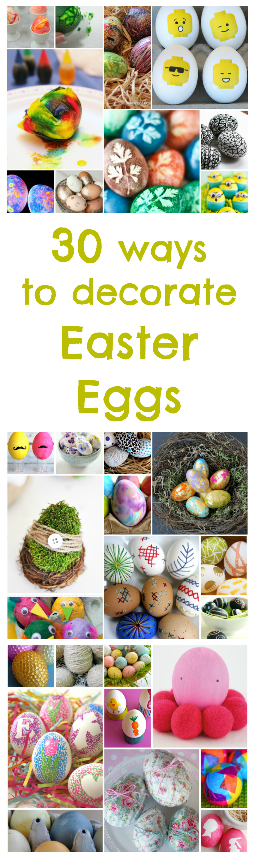 30 ways to decorate Easter eggs, how to decorate Easter Eggs, how to dye Easter Eggs